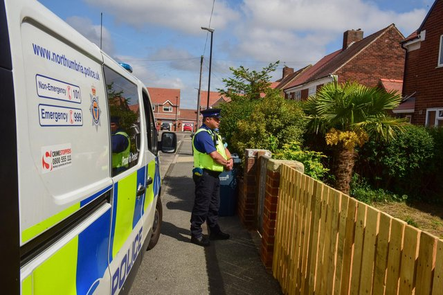 Police at the scene of the incident on Park Avenue, Silksworth, on Friday, June 18.