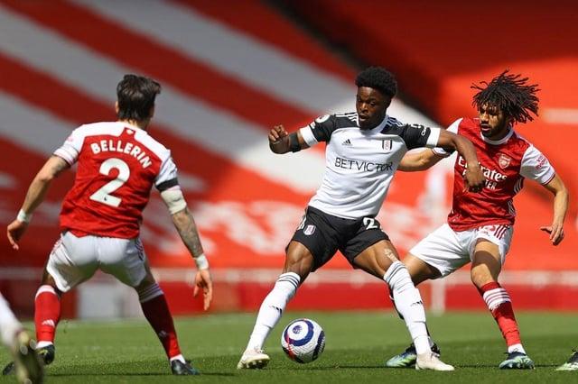 Former Sunderland striker Josh Maja playing for Fulham.