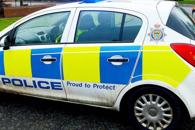 Emergency services were called to a two vehicle collision on the A19.