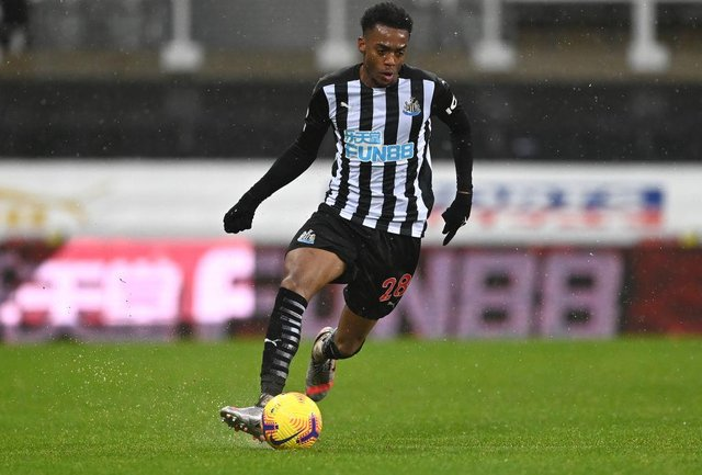 Joe Willock is on loan at Newcastle United from Premier League rivals Arsenal. (Photo by Stu Forster/Getty Images)