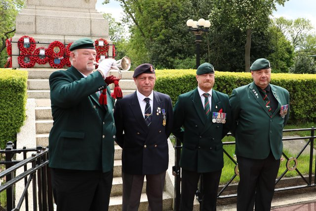 Veterans commemorated the 77th anniversary of the D-Day landings at the Mowbray Park cenotaph.