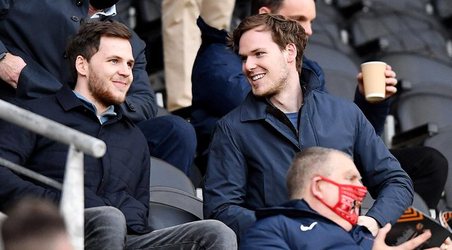 Maurice and Kyril Louis-Dreyfus at a recent Sunderland game