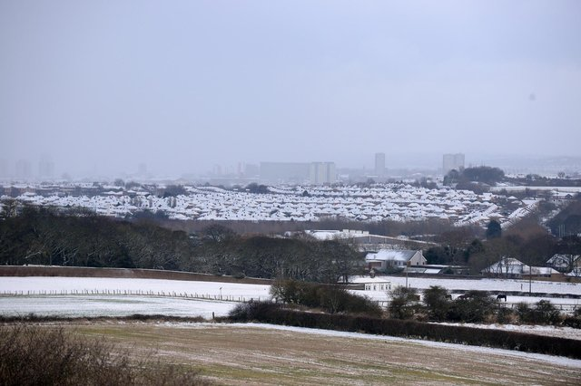 Snow fall in the North East earlier this year