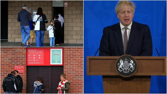 Boris Johnson has confirmed the return of fans to sport stadiums from May 17.