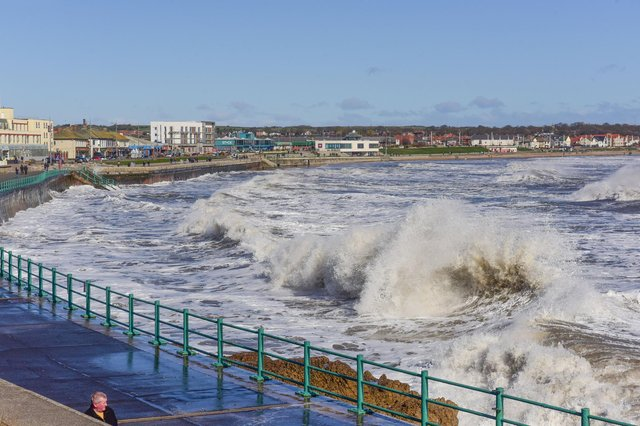 Stormy seas at Seaburn earlier this morning as more heavy seas are predicted for our coastline.