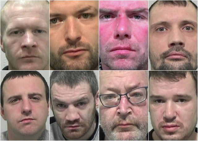 Just some of the criminals from the Sunderland area who have recently received jail terms.