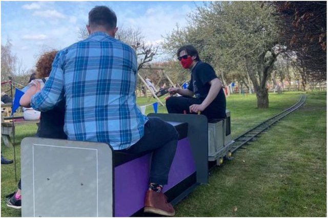 GLMR Portable Miniature Railway in action.