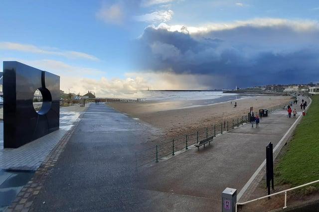 Scenes from Sunderland's coastline as a new lockdown began.
