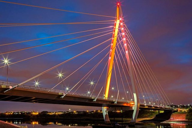 The Northern Spire will be just one of a number of locations across Sunderland that will be lit up red and white.