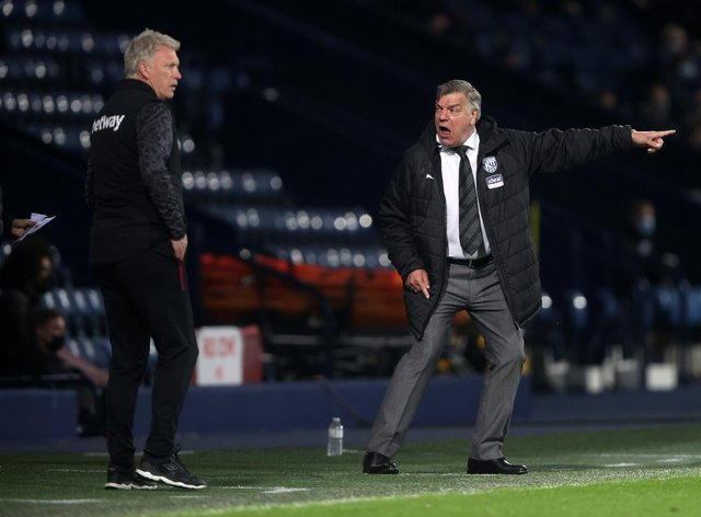 WEST BROMWICH, ENGLAND - MAY 19: Sam Allardyce, Manager of West Bromwich Albion reacts during the Premier League match between West Bromwich Albion and West Ham United at The Hawthorns on May 19, 2021 in West Bromwich, England. A limited number of fans will be allowed into Premier League stadiums as Coronavirus restrictions begin to ease in the UK. (Photo by Molly Darlington - Pool/Getty Images)