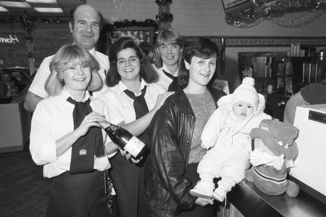 Wimpy, Sunderland celebrated its second birthday but also served its millionth customer in 1985. Does this scene bring back memories?