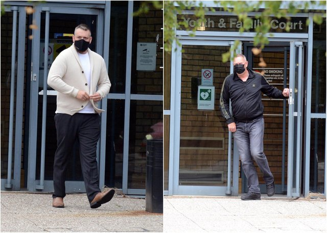Matthew Chapman and Colin Green leaving South Tyneside Magistrates' Court.