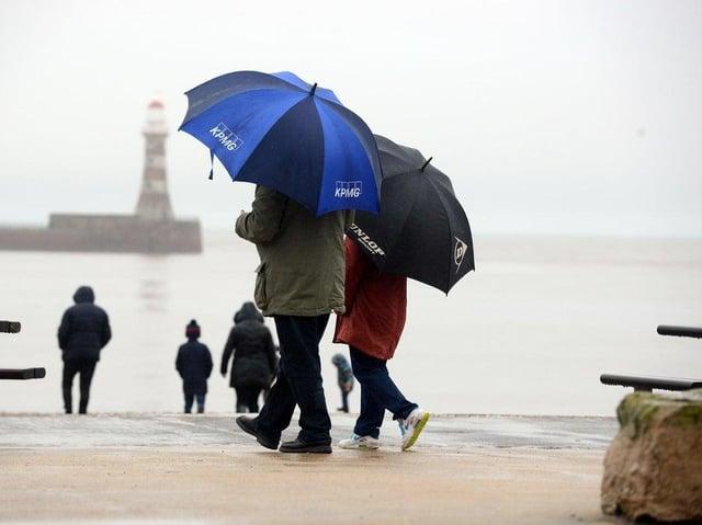 Spells of heavy rain forecast for Sunderland