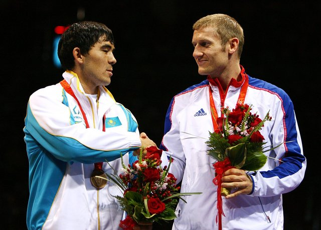 Sunderland's Tony Jeffries celebrates after winning a bronze medal at the Beijing 2008 Olympic Games.