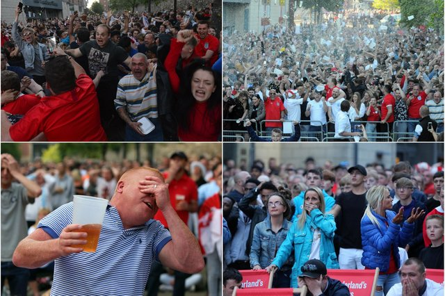 Fans going through every emotion as they watch England in their last major tournament in 2018.