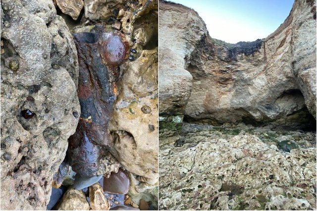 Hartlepool Coastguard volunteers were called to Blast Beach in Seaham after receiving reports that possible ordnance had been discovered. Photos: Hartlepool Coastguard.