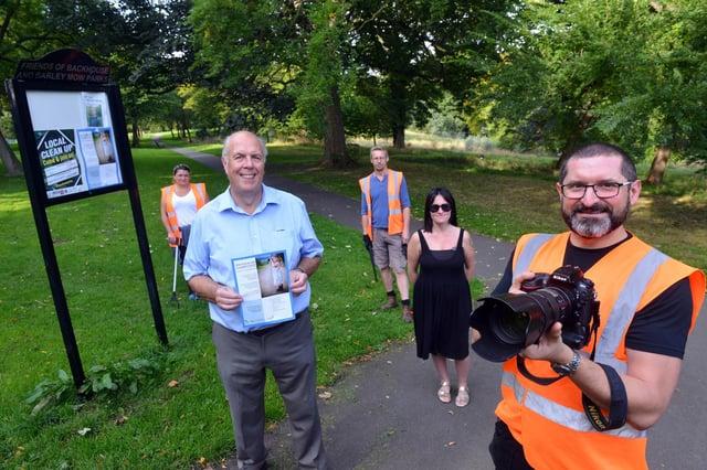 Launch of the Backhouse Park photography competition. From left volunteer ranger Irene Sawcka, Cllr Michael Dixon, ranger superviser Neil Brown, Sunderland Council enviroment officer Katie Kelly and ranger Daniel Krzyszczak.