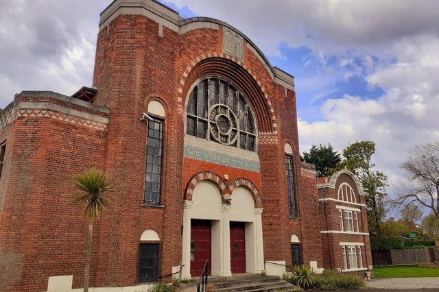 Sunderland Synagogue, magnificent but empty since 2006. JPI image.