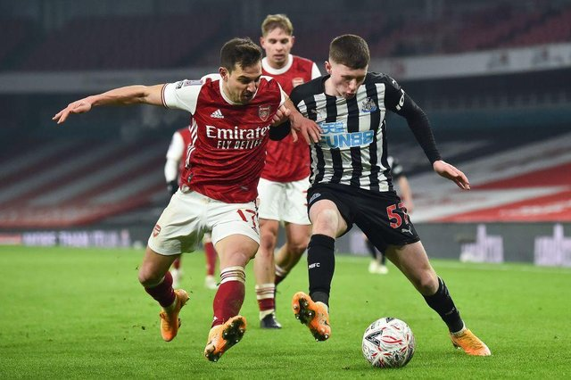 Elliot Anderson on his Newcastle United debut.