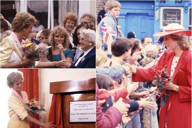 An adoring Wearside public greets Diana.