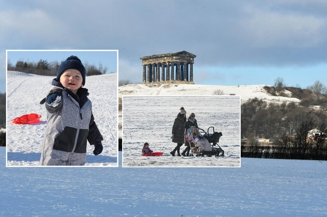 Sunderland saw a week of snowfall ahead of Valentine's Day