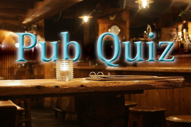 """Our """"pub"""" quiz will keep you entertained for a while."""