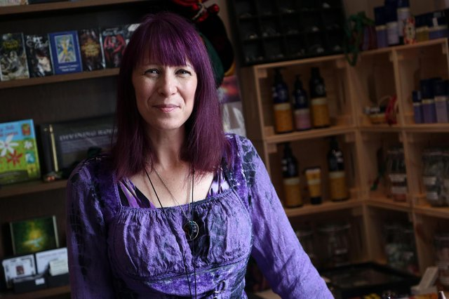 Kirsten Lapping pictured in her shop Crystal Moon Emporium.