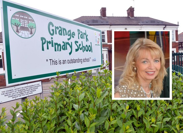 Pauline Wood (inset) headteacher at Grange Park Primary School in Sunderland has been suspended over comments she made about staff on radio Newcastle.