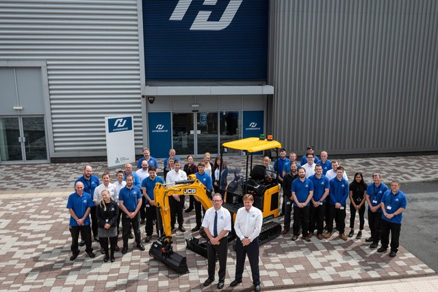 Some of the Hyperdrive Innovation team at their Sunderland, factory.