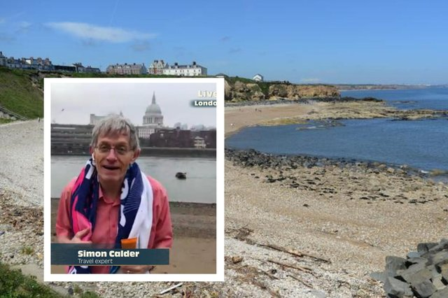 Simon Calder told BBC's Morning Live show Seaham beach is one his favourite 'secret' beaches in the UK