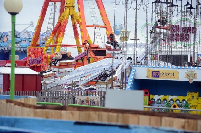Ocean Beach Pleasure Park on 'Super Saturday' in summer 2020
