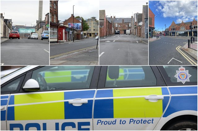 Some of the Sunderland locations where most crime was reported to Northumbria Police during July.