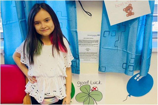 Brave youngster Chloe Gray is set to undergo a life-saving stem cell transplant at the Royal Victoria Infirmary.