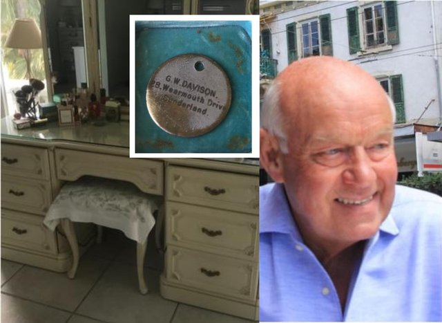 Alan Threadgould is trying to track down the owner of the tag found in a set of drawers bought in Spain