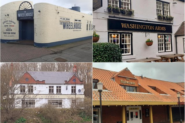 Clockwise from top left, the Wheelhouse, the Washington Arms, the Highwayman and the River Bar are among the Washington pubs opening with outdoor service on April 12.