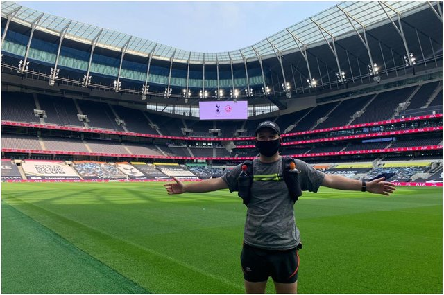 Nathan Richardson at Tottenham Hotspur Stadium.