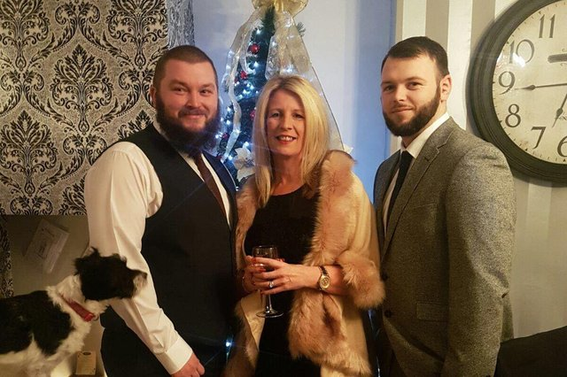 Andy Turnbull pictured with mum Karen and brother Dan.