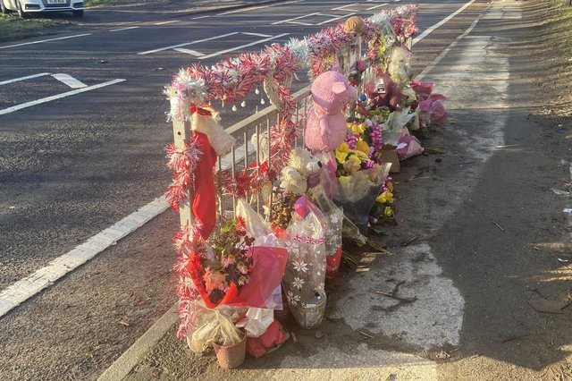 Tributes have been left close to the scene of the collision on the A1086 Coast Road between Blackhall Colliery and Horden.