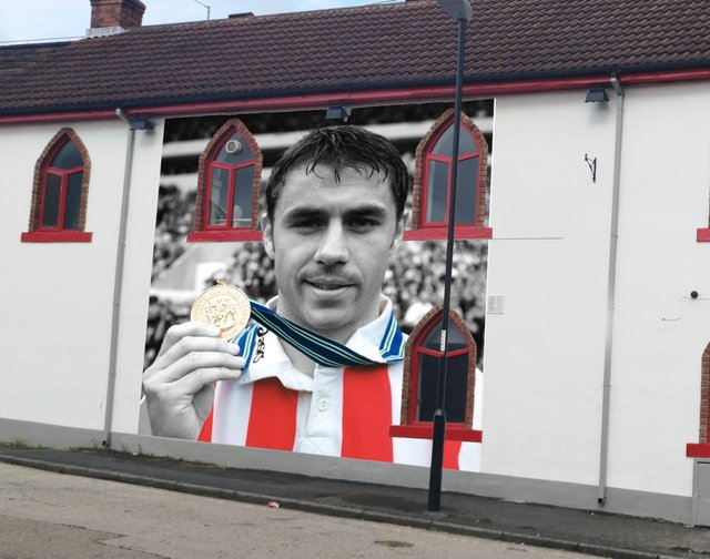 An impression of how the finished mural will look