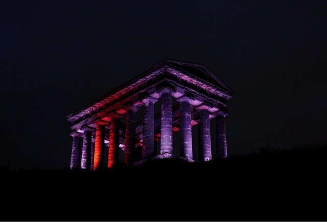 Penshaw Monument is one of the Sunderland landmarks that will be lit up to show support for England.