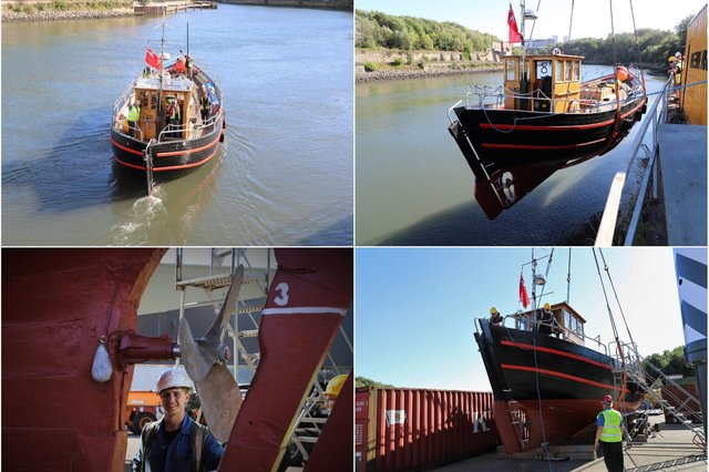 The fantastic restoration of the Sunderland Maritime Heritage ship Willdora which has been carried out by Liebherr in Sunderland.