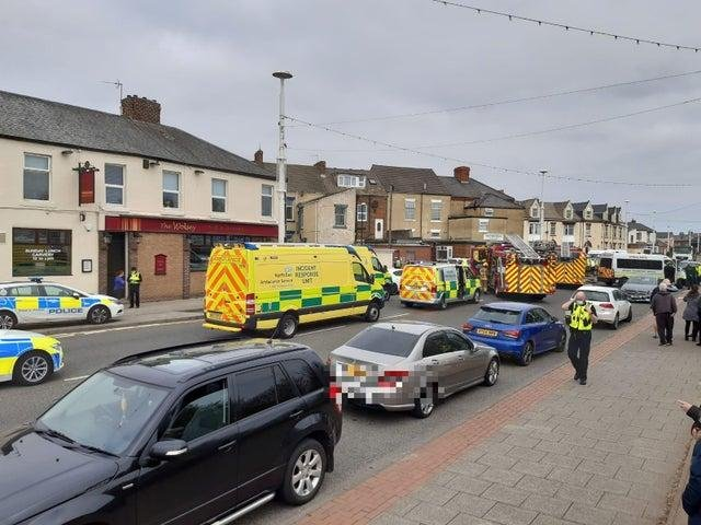 The scene of the collision on Thursday, April 1, on Millum Terrace in Roker.