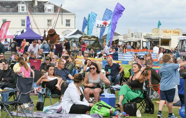 The seafront crowd enjoying Seaham Carnival on the Terrace Green back in the summer of 2019.