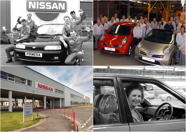 A selection of images from Nissan's first 35 years on Wearside.