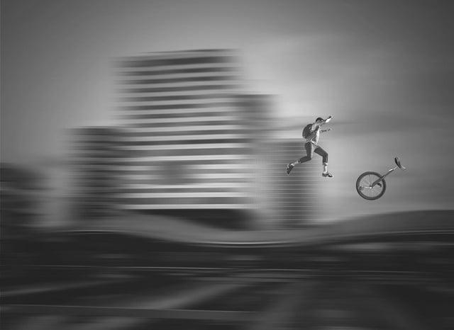 E-pogosticks or e-unicycles could provide some 'smashing' entertainment for pedestrians.