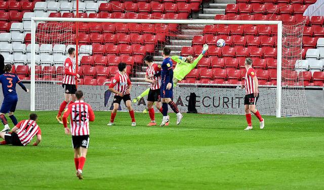 Sullay Kaikai puts Blackpool ahead at the Stadium of Light