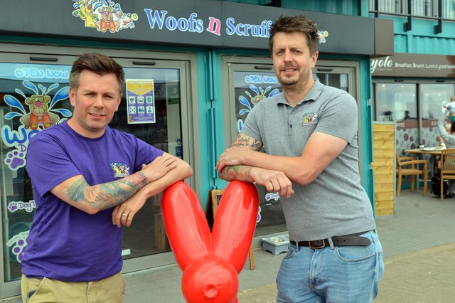 Stack Seaburn Woofs N Scruffs owners Mark (left) and David Potts-Brown are hoping to see an end to restrictions in July.