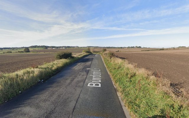 Looking down Burdon Lane, off which plans have been approved for a 950-home housing development