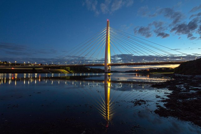 The Northern Spire bridge will be among the landmarks being lit up in Sunderland to mark the day of remembrance.