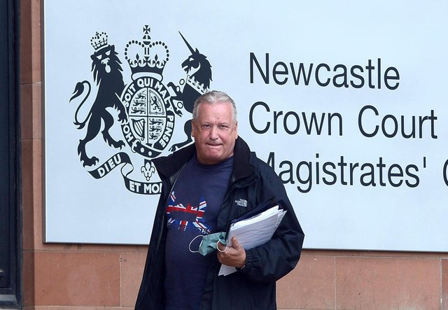 Billy Charlton arriving at Newcastle Crown Court.